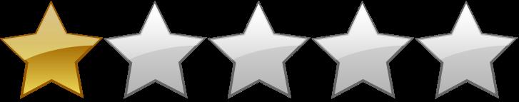 Výsledek obrázku pro one star rating png