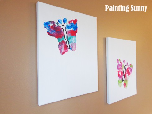 Butterfly Foot-Print Sentimental Art | Painting Sunny