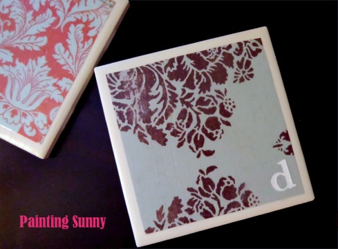 Ceramic Tile Coasters | Painting Sunny