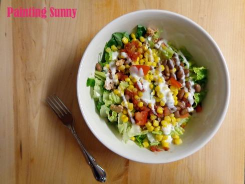 Southwestern Salmon Salad | Painting Sunny