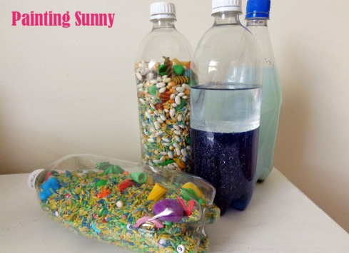 Sensory Bottles for the Children | Painting Sunny