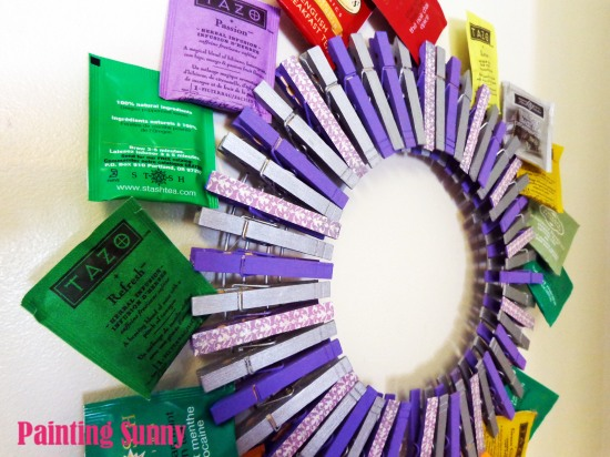 DIY Tea Clothespin Wreath | Painting Sunny
