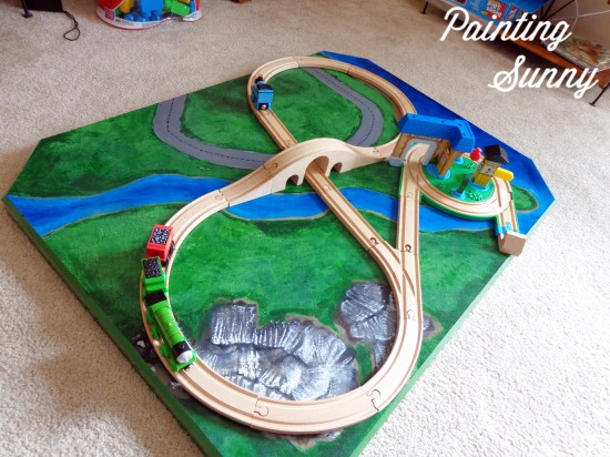 DIY Train Table | Painting Sunny