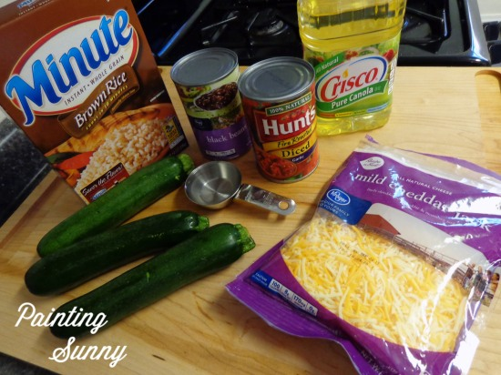 Zucchini, Black Bean & Rice Skillet Dish | Painting Sunny