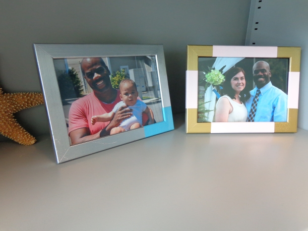 Color-block Metallic Picture Frames | Painting Sunny