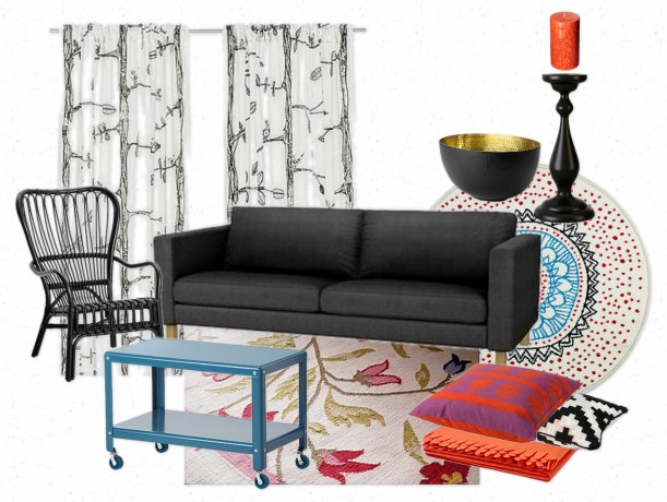 Quirky Patterned Ikea Dream Living Room | Painting Sunny