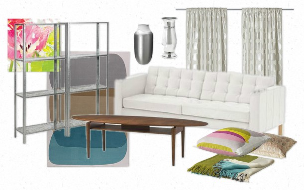 Glamorous & Practical Ikea Dream Living Room | Painting Sunny
