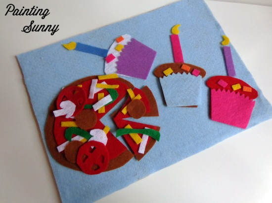 DIY Felt Board Scenes, Preschool Travel Activities | Painting Sunny