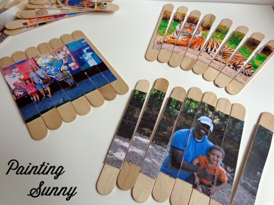 DIY Personalized Photo Puzzles, Preschool Travel Activities | Painting Sunny