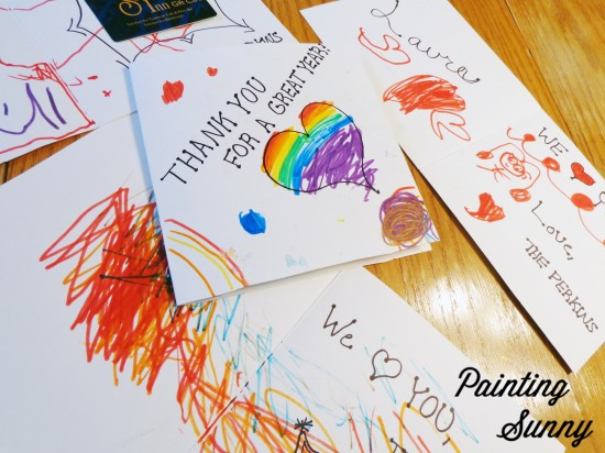 Upping the Aww Factor: Colorful Cards From Kids | Painting Sunny