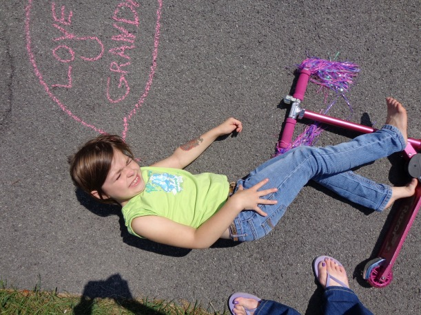 Pin-Fail... Sidewalk Chalk Photo Props Clearly Did Not Work For Painting Sunny