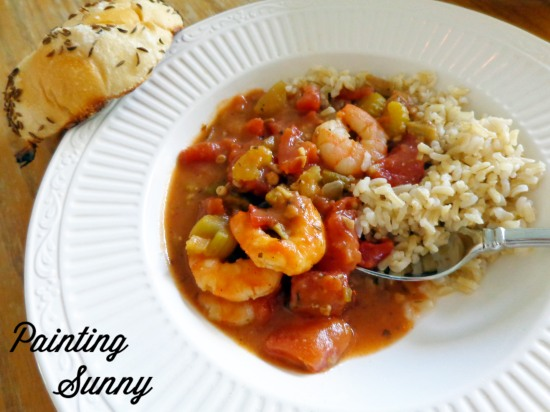 Read & Eat: Almostkinda Shrimp Gumbo & A Brief Wondrous Life of Oscar Wao by Junot Diaz | Painting Sunny